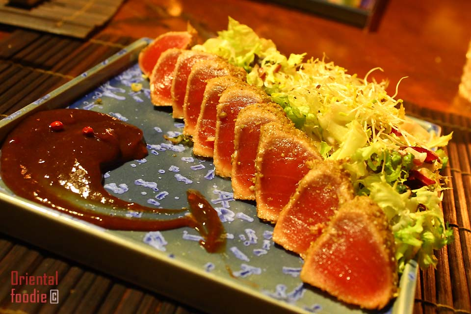 Thai tuna sashimi Ristorante Shambala Milano